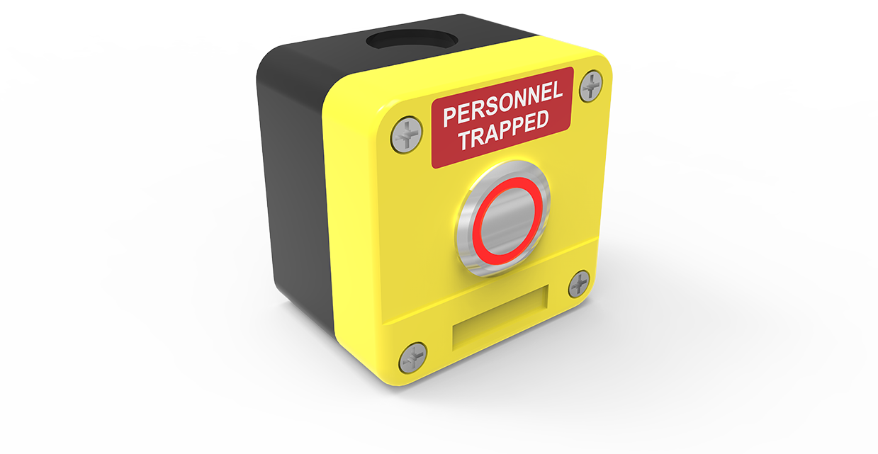person or personnel trapped alarm switch