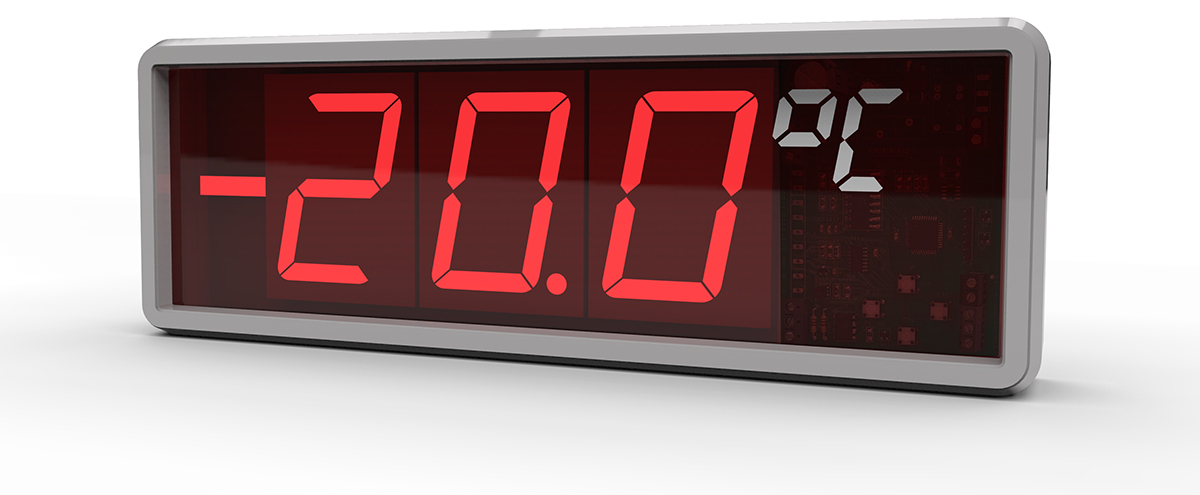large digit digital temperature display